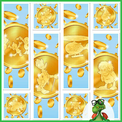 Topps Disney Collect Card Trader Ducktales Die-Cut Coins Set of 8 no award