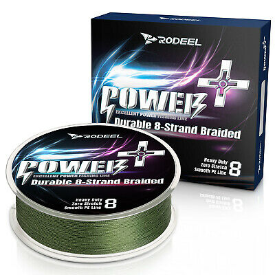 Rodeel PE Lines 8 Strands 300m 12-60lb Fishing Line Braided Abrasion Green Color