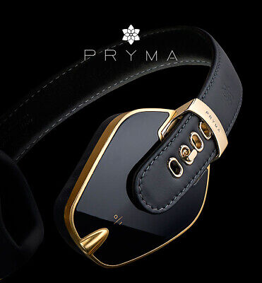 SONUS FABER PRYMA Headphones Leather & Aluminum Headphones Black / Gold -  £220.50 | PicClick UK