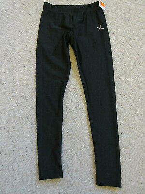 Girls' Decathlon black leggings age 6.  New with tags