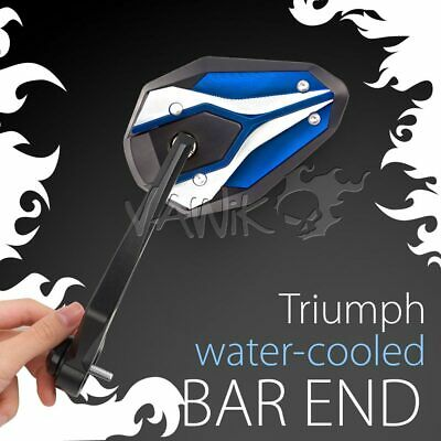 Bar End Blue Mirrors VIPERII Compatible With Triumph Water-Cooled Motorcycles ε