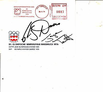 Jane Torvill and Christopher Dean HAND SIGNED AUTOGRAPHED CARD