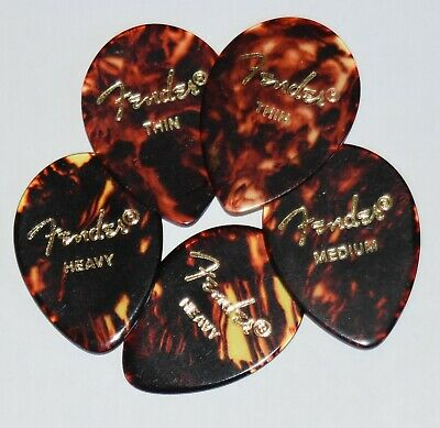 Fender Guitar Picks  Shell  354 x 5 Picks Thin,Medium, Heavy or Extra Heavy