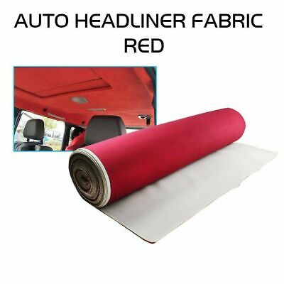 "Wine Red Headliner Upholstery Fabric Refit Sagging Dome Lining Car Truck 85""x60"""