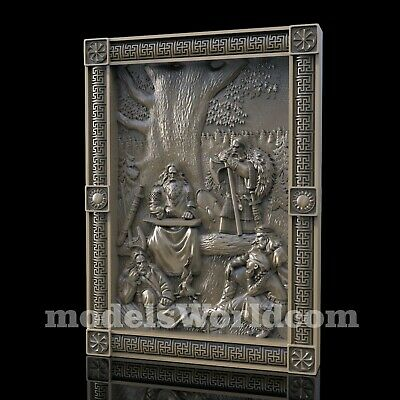 3D Model STL for CNC Router Artcam Aspire Clan Hero Vikings Panel Cut3D Vcarve