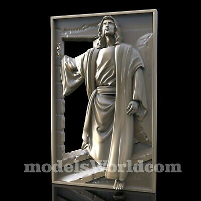 3D Model STL for CNC Router Artcam Aspire Religion New Jesus Panel Cut3D Vcarve