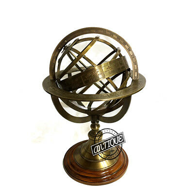 Valentine Antique Style Armillary Sphere Globe / Nautical Constellations Tabl