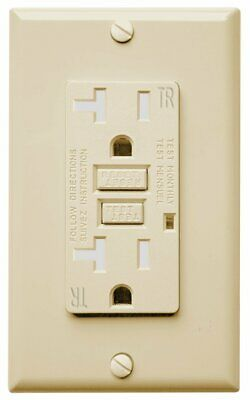 20 AMP GFCI Receptacle Outlet Tamper Resistant  - UL Listed GFI  IVORY TR GFCI