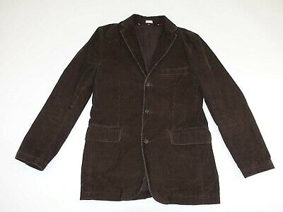 J. Crew Men's 3 Button Corduroy Sport Coat Small Brown Blazer Coat Jacket S