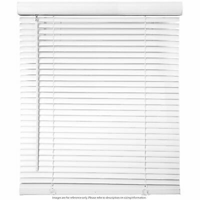 "Window Blinds - 58"" Wide White Horizontal Venetian Blinds 64"" Height w/ Hardware"