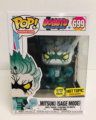 Funko Pop Boruto Naruto Mitsuki Sage Mode Glow In The Dark Hot Topic Exclusive