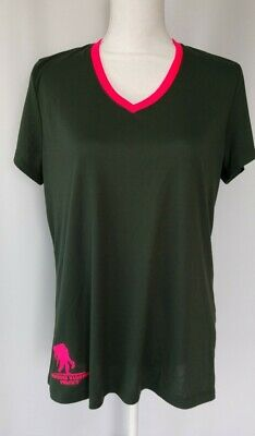 Under Armour Heat Gear Women's Size Large Wounded Warrior Project Green & Pink
