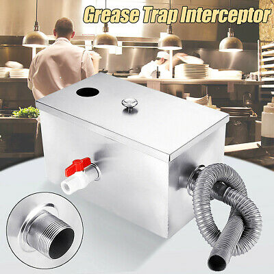 Stainless Steel Grease Trap Interceptor For Restaurant Kitchen Wastewater 8LB