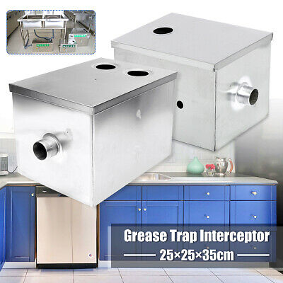 8LB 5GPM Single/Double Inlet Grease Trap Interceptor Oil Water Separator Kitchen
