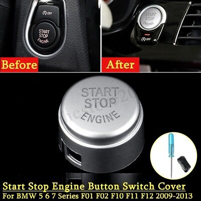 #61319153832 Car Start Stop Button Switch Cover for BMW 5 7 F01 F02 F10 F11