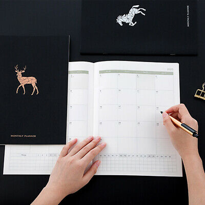 2020 Year Sweet Horse Agenda A4 Diary Weekly Monthly Schedule Notebook Planner W