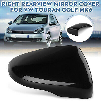 Black Left Driver Side Door Wing Mirror Cap Cover For Vw Touran Golf Gti Mk6 For Sale Picclick
