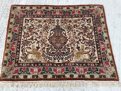 Tapis Tableau Perse Isphan Noué 80x63cm teppich Tappeto Rugs carpet Alfombra