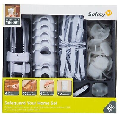 Safety 1st Home Safeguarding and Childproofing Set (80 pcs), White FREE SHIPING