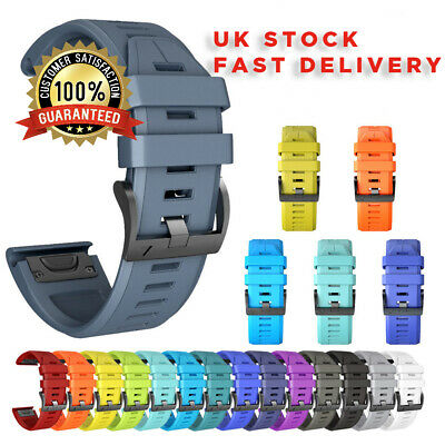 Garmin Fenix 6 5 3 Strap Band Easy Fit Silicone Rubber Replacement For 22mm
