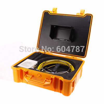 30M Sewer Pipe Waterproof Camera Pipeline Drain Inspection System CCTV DVR