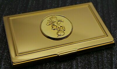 REME Gold Card Case  Business ID Membership Holder Crest Military Badge Crested