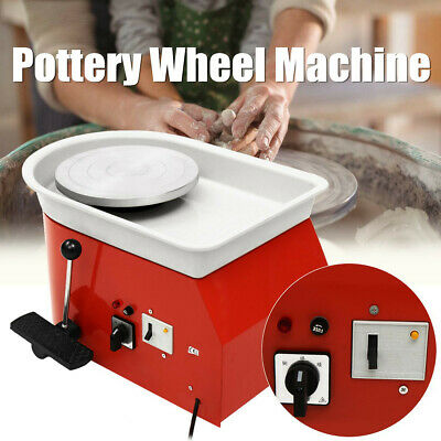 25CM 375W Electric Pottery Wheel Ceramic Machine For Work Clay Art Craft New
