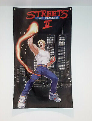 Streets of Rage Flag NYC Arcade Decor Capcom Gaming Room Axel Banner 5X3 FT