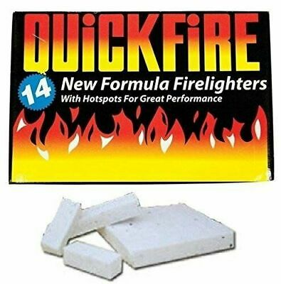 14 pack Fire Lighters Long Burning Firelighter QuickFire Flame Oven Barbecue BBQ