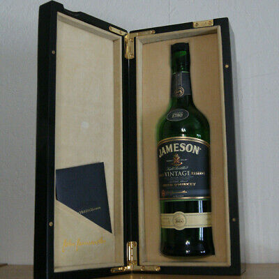 Jameson Rarest Vintage Reserve Decorative Box and Empty Bottle