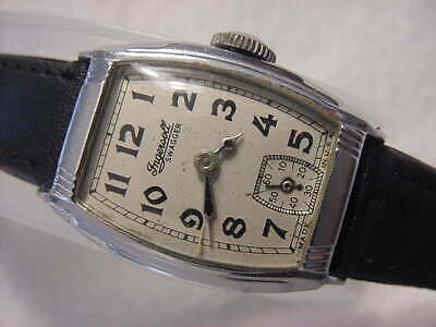Vintage large antique 1920 Art Deco INGERSOLL SWAGGER mens watch