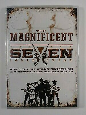 MAGNIFICENT SEVEN - 4-PACK COLLECTION DVD 4 DISC SET Factory Sealed FreeSHIPPING
