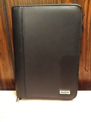 "Franklin Covey Day 1 One Zip 2"" 6 Ring Binder Planner Organizer 8.5"" x 6"" Black"