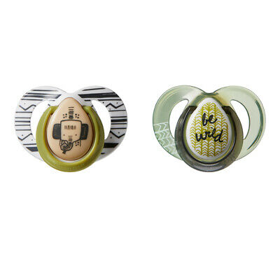 Tommee Tippee Closer to Nature Anytime Soother Green 6-18m 2Pk