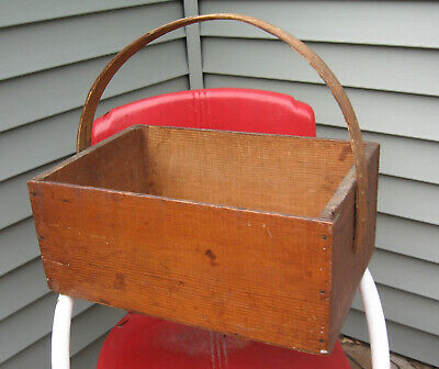 Antique Raisin Box Crate with Bentwood Handle, Griffin & Skelley Brand