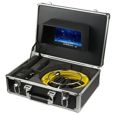 """7""""LCD 30M Sewer Waterproof Camera Pipe Pipeline Drain Inspection System SD Card"""