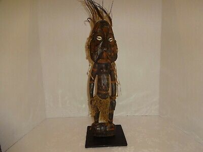 Vintage Wood Carved African Tribal Man