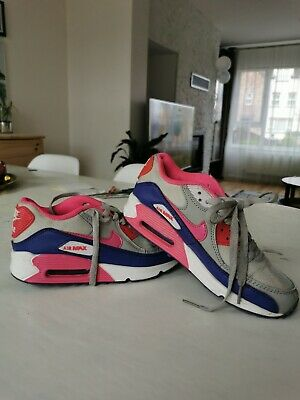UK Womens Girls Size 4 Nike Air Max 90 Retro Pink  Grey Purple Trainers