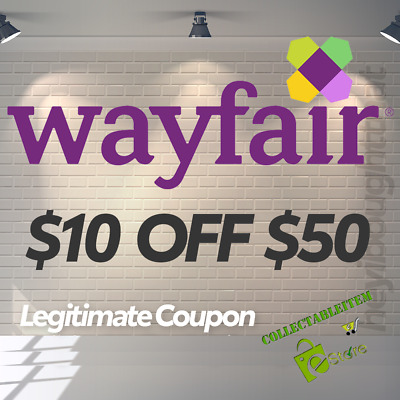 $10 off $50 Wayfair Coupon for NEW customers * WORKING COUPON OR REFUND *