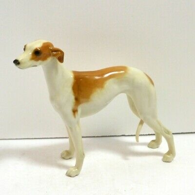 Porcelain Whippet Dog Figurine Hutschenreuther Germany