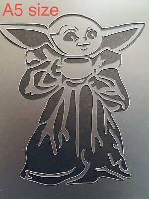 The Mandalorian A4 Stencil Template Wall Furniture Decor Star Wars Baby Yoda