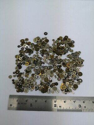Selection of Pocket Watch Jewels - Jewel Caps - Spare Parts for Repair Work (6F)