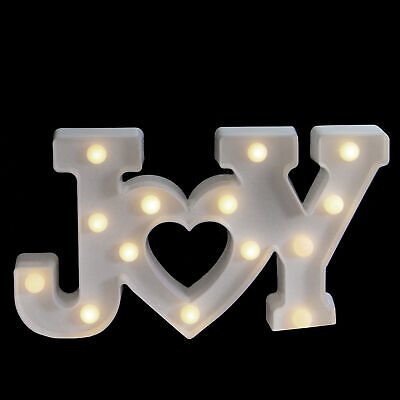 """12.8/"""" JOY LED Marquee Sign Battery Operated NIB Holiday//Christmas"""
