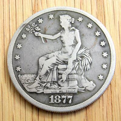 1877S United States Of America Silver Trade Dollar - Fine Or Better