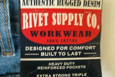 Rivet Supply Co. Authentic Rugged Denim Workwear jeans NWT Relaxed fit 34x30