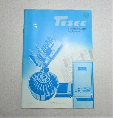 TESEC Corp. Semiconductor Equipment Catalog 1982-83 Edition
