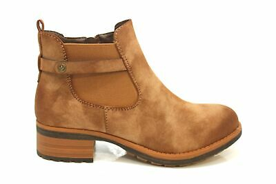 RIEKER CHUNKY CHELSEA Brown Suede Ankle Boots 99284 24 Flat