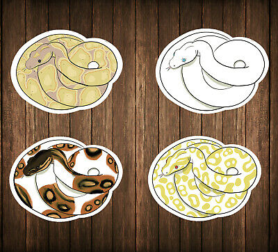Ball Python Sticker Set - Set of 10 - Homemade by Me!