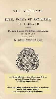 Irish Flint Arrow-Heads. A rare original article from The Journal of the Royal S