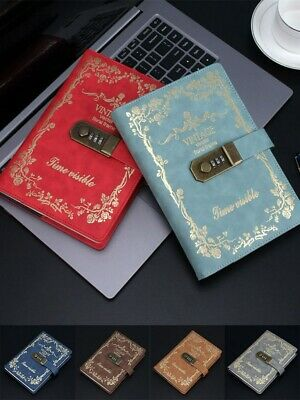 1pc A5 Retro Secret Diary Journal Notebook Codebook Memo Notebook with Password